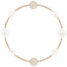 Swarovski 5365738 Remix Rose Gold Crystal Pearl Boundless Bracelet 17.5cm RRP$99