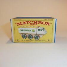Matchbox Lesney 61 b Alvis Stalwart empty Repro E style Box