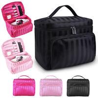 Professional Large Cosmetic Case Makeup Bag Storage Handle Organizer Travel Kit