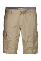 """ESPRIT New Men's Plain Bermuda Cargo Combat Style Shorts Beige Khaki Red 29"""" 30"""""""