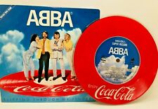 """Vintage Prize ABBA Coca Cola """"SLIPPING THROUGH MY FINGERS"""" Red vinyl 1980s"""