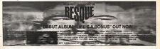 2/11/91 Pgn34 Advert: Resque Debut Album lifes A Bonus On Musidisc Uk 3x11