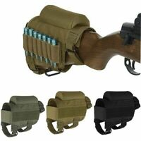 Tactical Hunting Rifle Cheek Rest Buttstock Gun Bullet Stock Ammo Pouch Bag
