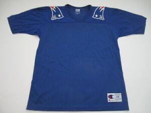 Mens 44 Large New England Patriots Champion blank vintage blue jersey
