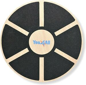 Yes4All Wooden Wobble Balance Board - Round Board, for...