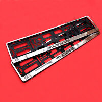 2 x CHROME Number Plate Surrounds Holder Frame For VW VOLKSWAGEN GOLF, POLO, CC