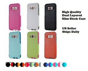 Shockproof Hybrid Commuter Case For Samsung Galaxy Note 5 6 7 Edge 8 9 10 Plus +