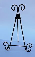"Deco 79 Rustic Black Iron Metal Table Display Easel 15"" H x 9"" W Set of 2"