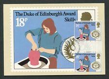 GB UK MK DUKE OF EDINBURGH`S AWARD GUTTER PAIR !! MAXIMUM CARD MC CM 60553