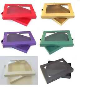 "5""X7"" Aperture Gift Box / Greeting Card Box/Wedding Invites/6 Colours/Choose Qty"