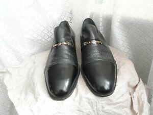 Moreschi  men black leather loafer shoes UK 8.5 standard