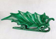 "Vintage 1972 Atlantic Mold Green Holly Ceramic #546 (16"" X 7.5"")"