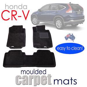 To suit Honda CR-V 2012 - 2017 CRV moulded 3D Car Floor Mats BLACK Carpet