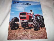 Massey-Ferguson MF 184-4 Tractor Brochure 4-Wheel Drive Nice