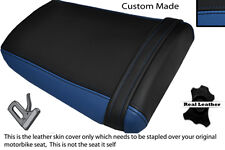 BLACK & ROYAL BLUE CUSTOM FITS HONDA CBR 600 RR3 RR4 03-04 REAR SEAT COVER