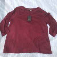 Jane And Delancey Women's Burberry Rayon Long Sleeves Top Blouse Size 3XL