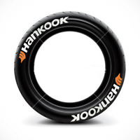 Promotion Hankook Permanent Tire Lettering Decals Stickers For 15'' -22'' 8 Kit