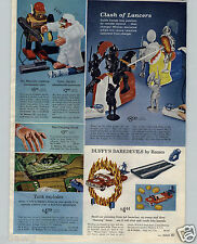 1966 PAPER AD Mr. Mercury Yetti Robot Toy Buddy L Ice Cream Coke Delivery Truck