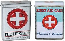 Assorted Design Vintage Tin Box First Aid Case Cigarette Protector Storage Gift
