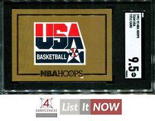 1991 NBA HOOPS TEAM USA TITLE CARD SGC 9.5 MINT+ A0145-828