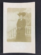 Vintage Postcard: Anonymous Woman #B43 Lady Edwardian Dress Large Brim Hat