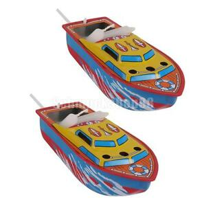 2Pcs     Boats Vintage Toys Steam/Candle Powered Floating Put Put Boats