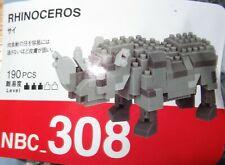 Rhinoceros Nanoblock Micro Sized Building Block Construction Brick Toy Nbc308