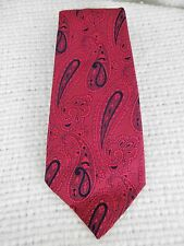 """Vintage Tie Golden Clasp by Prince Consort , 53.5 x 4"""" Paisley Fuschia Pink Navy"""