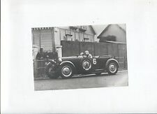 N°7068  / BUGATTI :   photo  type 50 n°6  avec compresseur 24H du Mans 1931