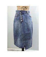 NWOT Assymetrical Midi Denim Skirt Size small Medium