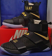 Nike Zoom Lebron Soldier 10 X iD Championship Pack Black SZ 9.5 ( 885682-991 )