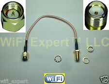 6IN SMA Male to Female Jack Extension Pigtail Cable RG316 High Quality LOW LOSS