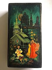 More details for vintage russian kholuy handpainted lacquered box. gorgeous. v good condition.