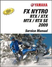 2008-2009 Yamaha FX Nytro RTX / XTX / MTX / RTX SE Snowmobile Service Manual CD