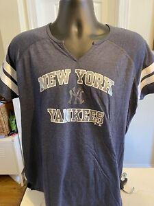 NY Yankees Gray T shirt  Size XL Womens Fanatics Brand