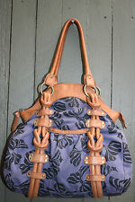 ANTHROPOLOGIE LUCKY PENNY canvas and leather hobo purse bag