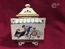 1917 Hand Painted Porcelain Asian Trinket Box
