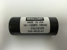 161-193uf mfd PSU16165 Mallory Motor Start Capacitor 165VAC suit 240VAC motors