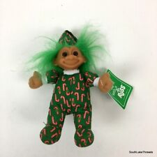 Vintage Deadstock Russ Luv-Pet Christmas Troll w/ Candy Cane Outfit #2385 w/ Tag