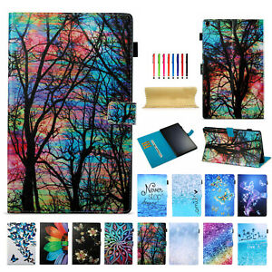 For Amazon Fire HD10 2021 HD8 10th/2017 Slim Smart Wallet Leather Case Cover