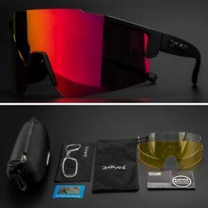 Cycling Glasses 3Lens Set UV400 Photochromic MTB Sunglasses Bike Bicycle Goggles