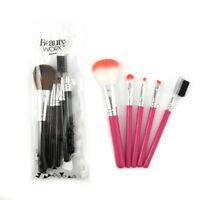6 Pack Brush Set Cosmetic Makeup Case Mini Kit Bronzer Travel Face Blender Brow