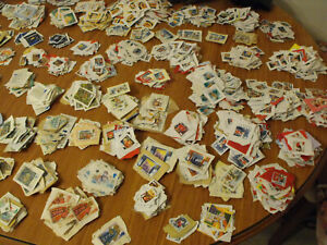 100 x Christmas Stamps Non Security Used Franked On Paper All Mixed Some Vintage