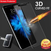 Coverage Soft Edge Curved Screen Protector Tempered Glass for IPhone X 8 7 6