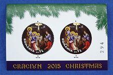 Rumänien Romania 2015 Weihnachten Christmas Block 645 + Silberreplik Auflage 425