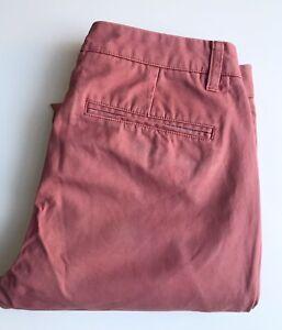Bonobos Pants / Chinos, 31 x 30, Pink Salmon, Slim Tailored Fit, Cotton, VGC
