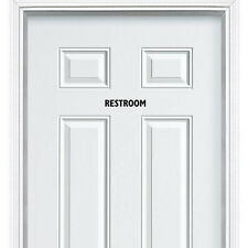 Restroom Toilet Entrance Sign Sticker for Bathroom Toilet Washroom WC Door Wall