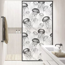 Novelty Jellyfish Print Static Cling Stained Glass Sticker Privacy Window Film