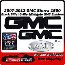 2007-2013 GMC Sierra 1500 Black Billet GMC Grille & Tailgate Emblem AMI 96511K