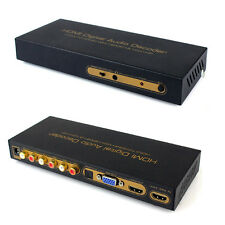 Pro ASK HDMI to Digital Audio 5.1 Decoder Analog Converter 3.5mm jack Extractor